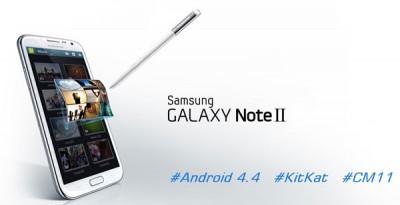 Update Android 4.4 KitKat Sambangi Samsung Galaxy Note II
