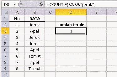 Aturan Penulisan Formula Dalam Excel