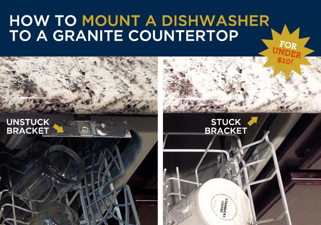 Countertop Dishwasher Mount : How to Mount a Dishwasher Under a Granite Countertop