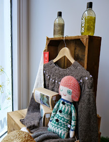 Dundee, craft shop, grand opening, sewing, crafting, DIY, supplies, haberdashery, The Haberdashery Project, new store, Wool & Co, knitting, window display, knitted doll