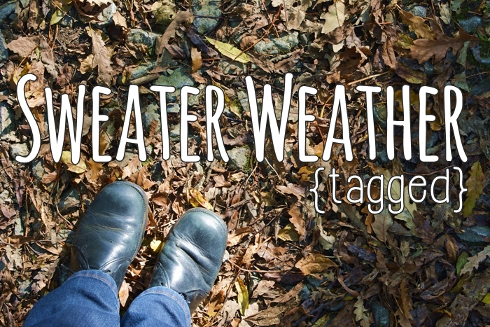 {tagged} Sweater Weather tag