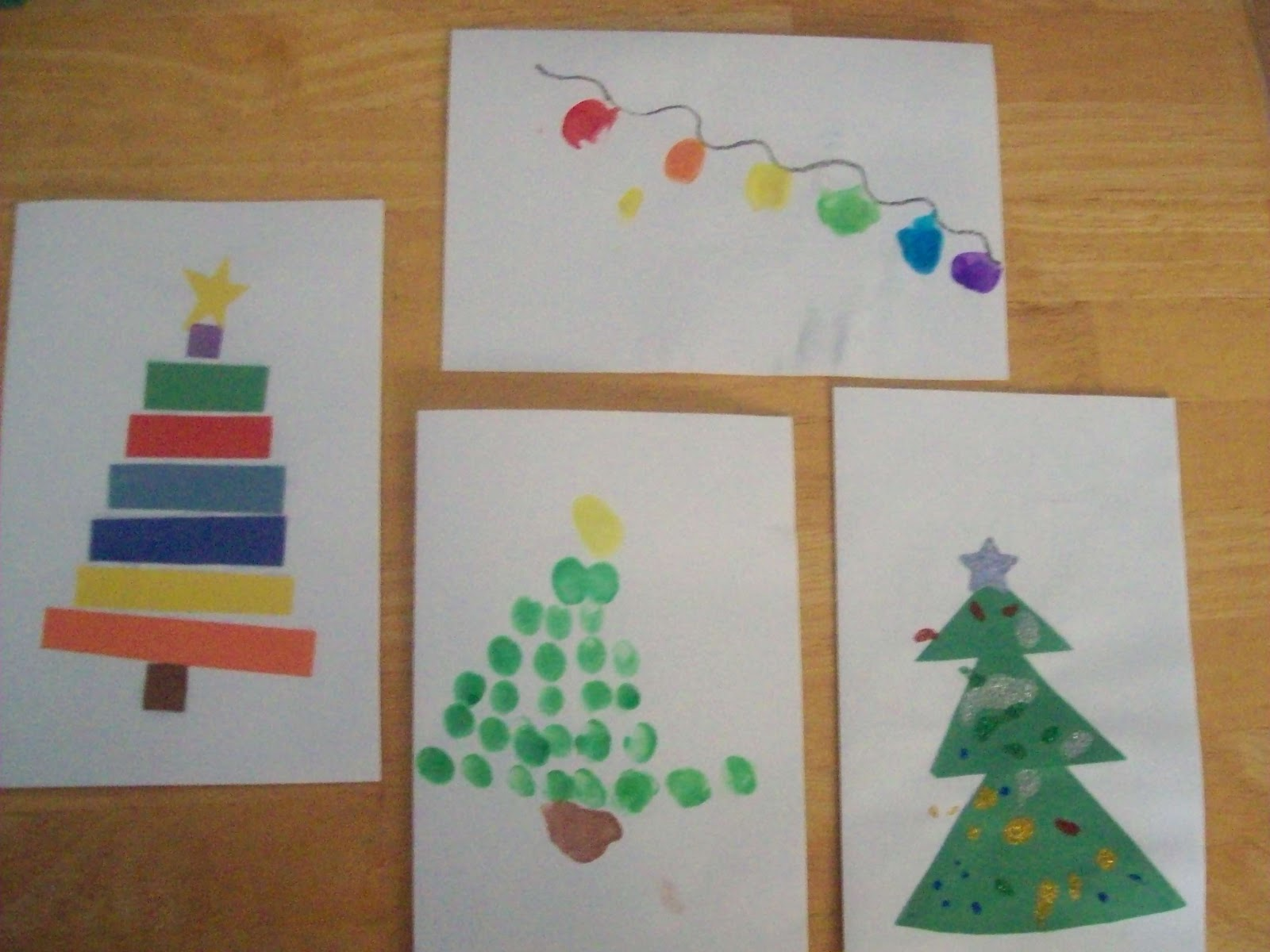 Christmas Card Making Ideas For Toddlers Part - 31: Kid Made Christmas Cards
