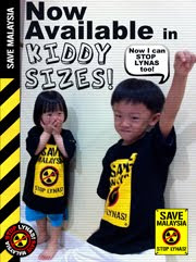 Save Malaysia, Stop Lynas! Merchandises