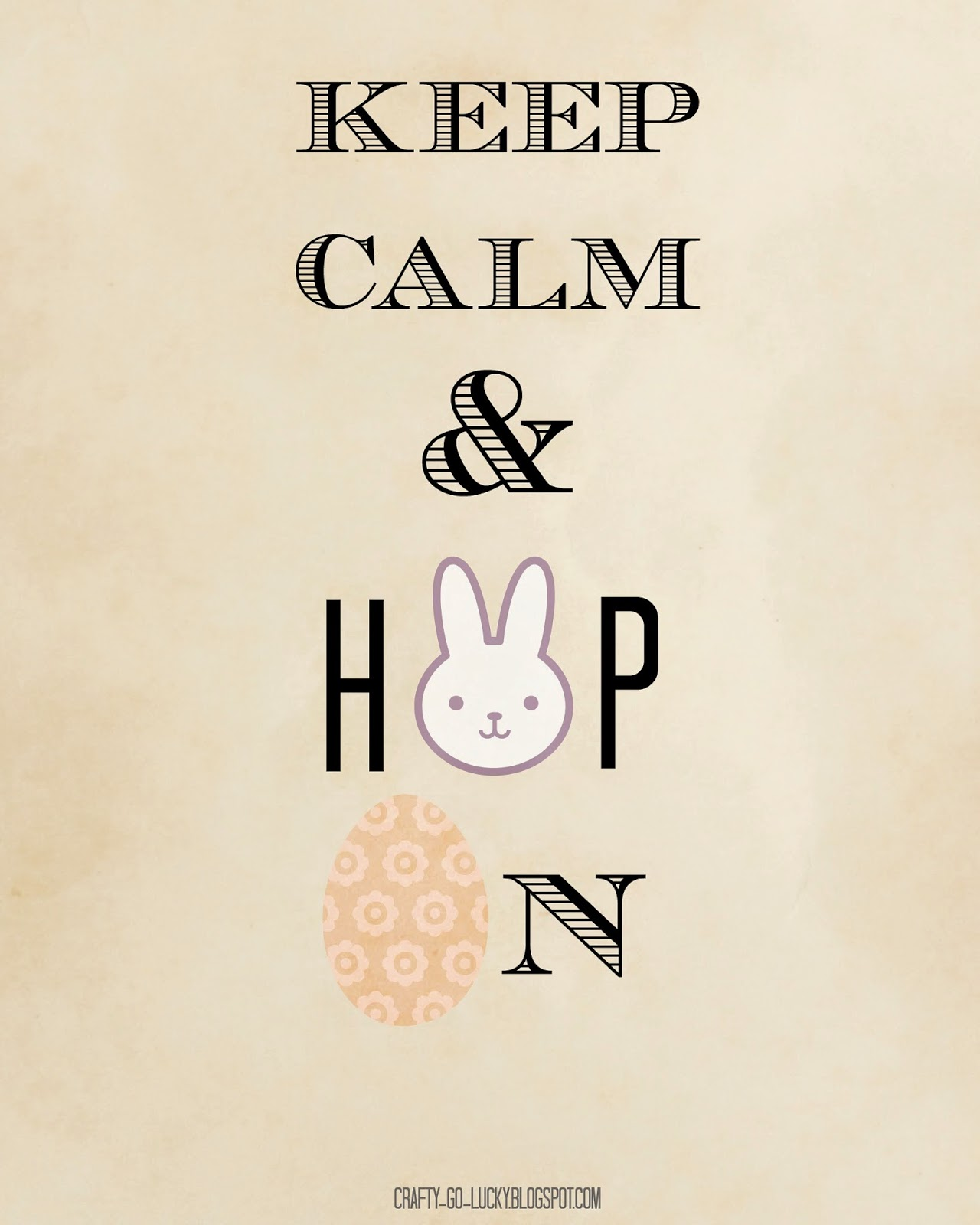Keep Calm & Hop On!  Free Easter Printable! (8x10...)