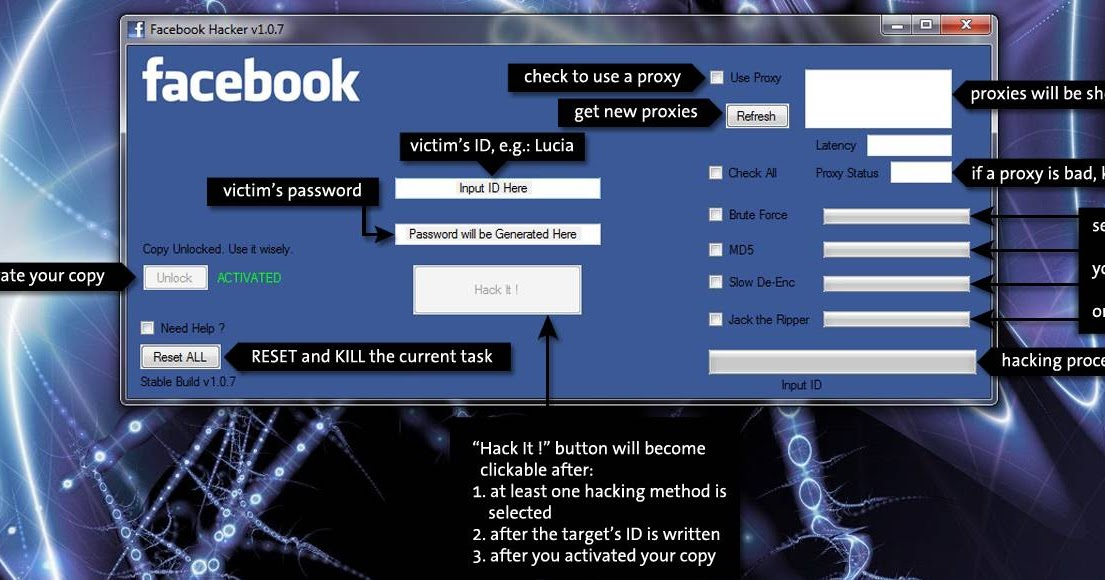 free facebook account and password hack