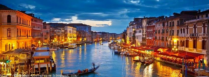 Belle photo de couverture facebook venise