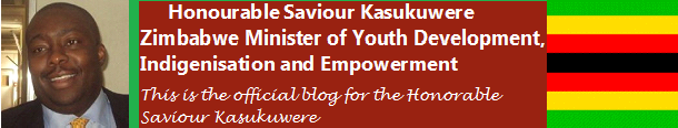 Honorable Saviour Kasukuwere Minister of Youth Development, Indigenisation and Empowerment