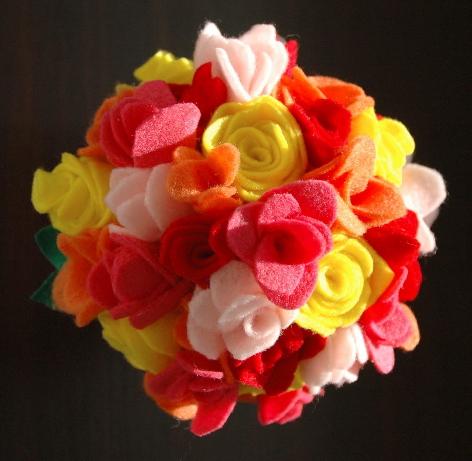 Lipstick and laundry felt flower bouquet felt flower bouquet izmirmasajfo