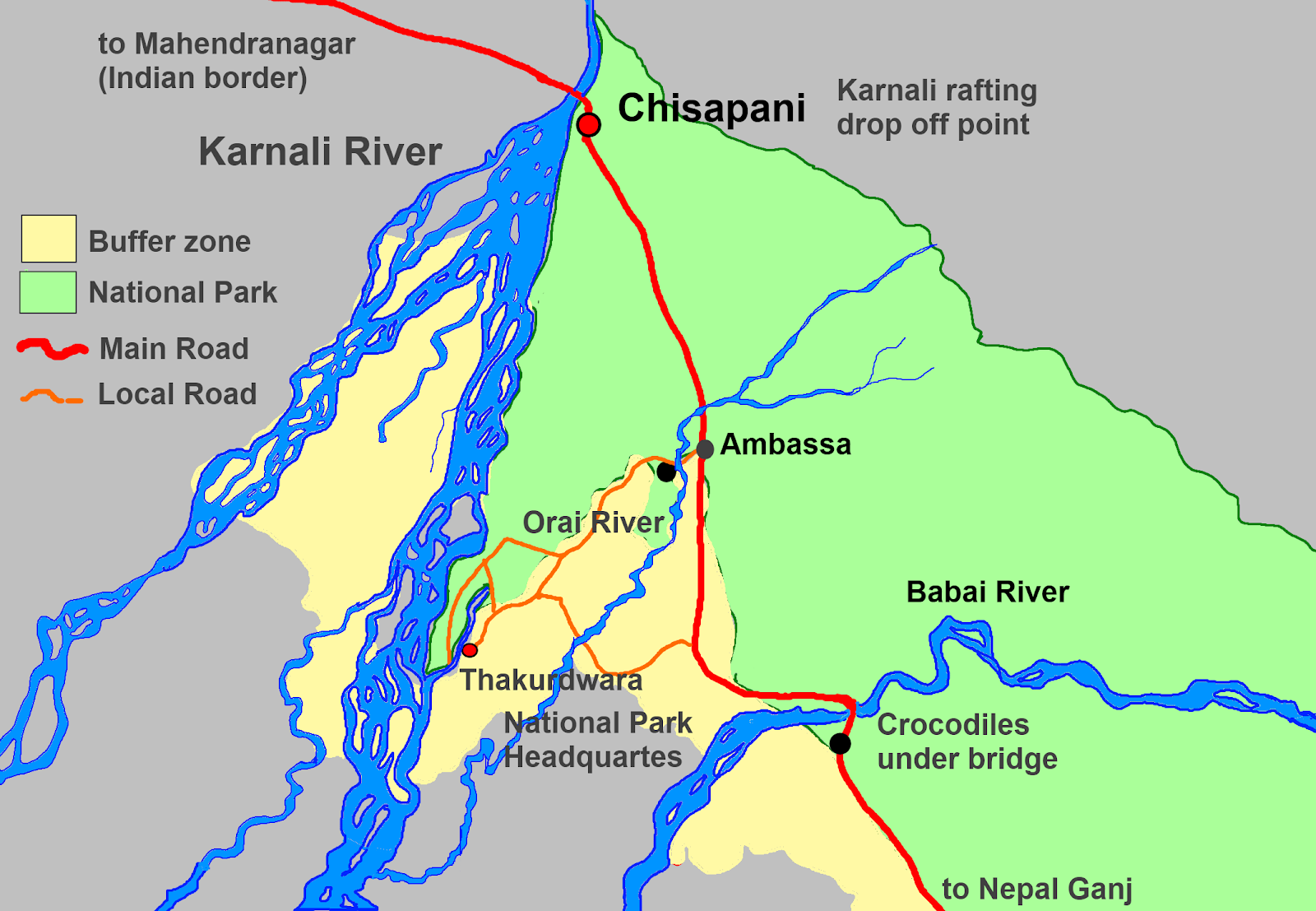 Bardia Nepal  City pictures : Mr B's Place: How to get to Bardia National Park