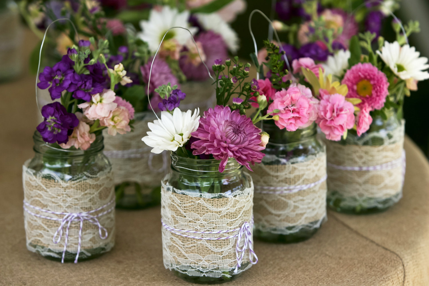 Wedding Centerpieces with Mason Jars 1500 x 1000