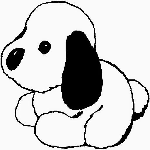 desenho de cachorro de pelucia  para pintar