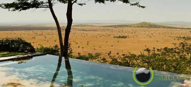 Main Pool di Singita Grumeti Reserves Sasakwa Lodge, Tanzania, Afrika