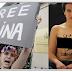 Demo Tanpa Baju Ahli Femen Di Depan Masjid