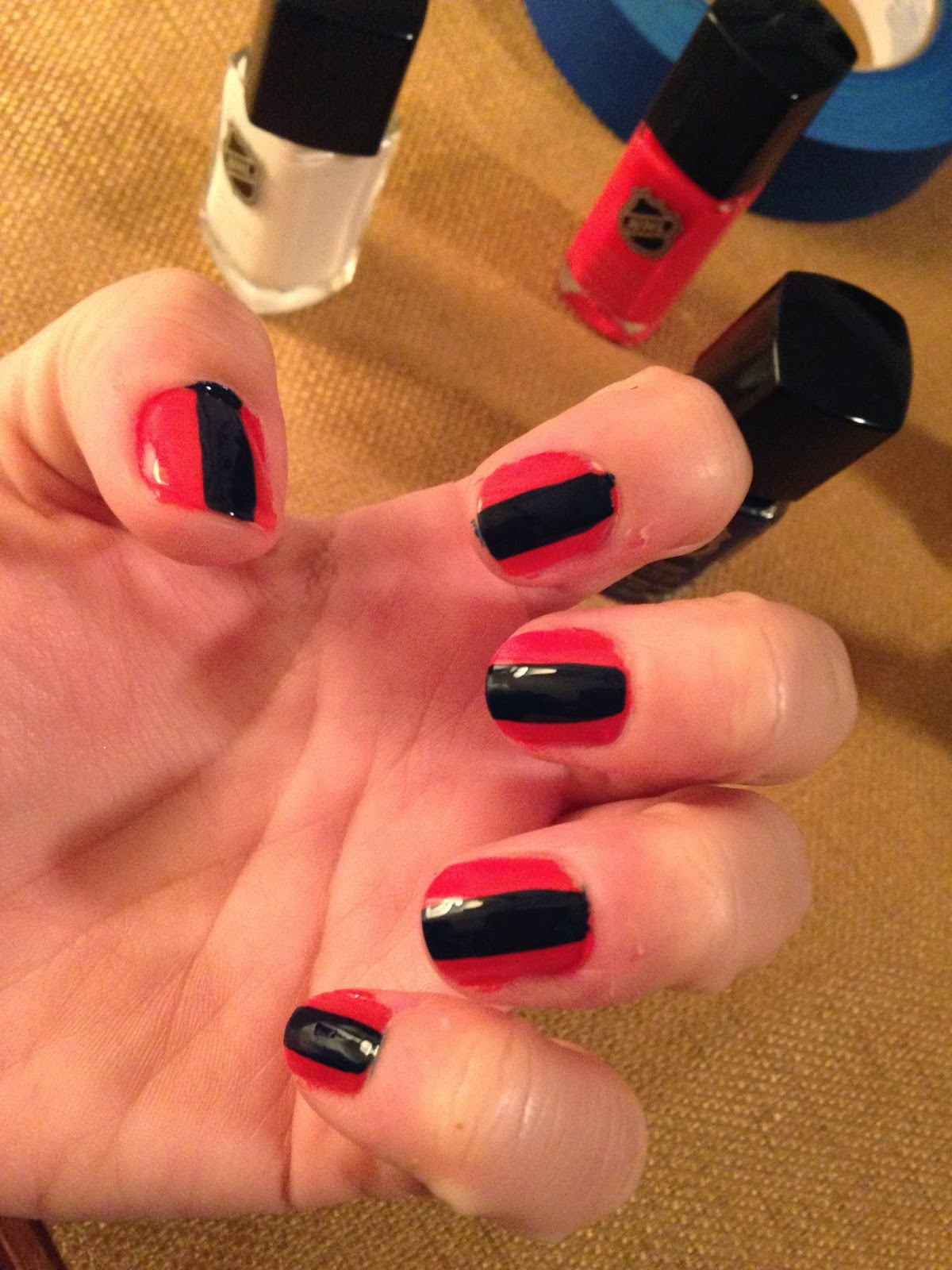 Washington Capitals nail polish from Chrome Girl
