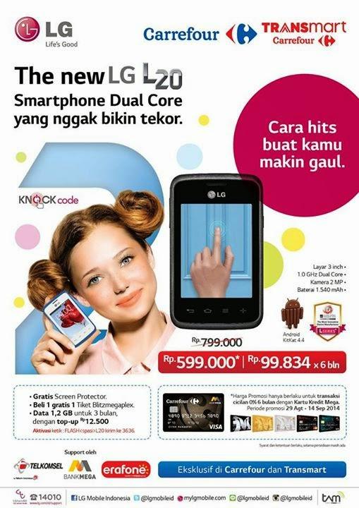 LG L20 Promo harga spesial Rp 599.000