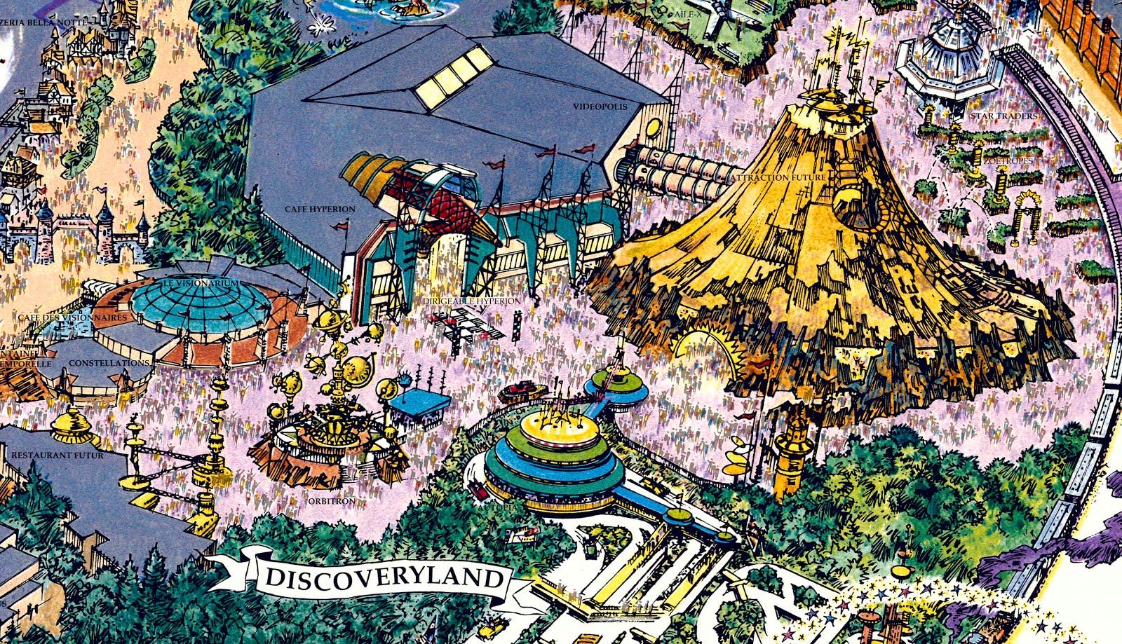 Disneyland Paris Map 2016 Pdf.Original 1992 Disneyland Paris Fun Map In Hyper Resolution