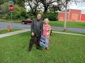 With Starbuck Avenue Resident....Putting Up a Sign