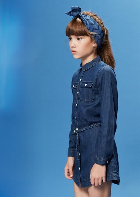 Total look denim #MangoKids #ministyle #modaniña