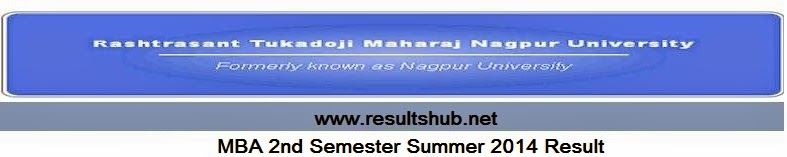 MBA 2nd Semester Summer 2014 Result RTM Nagpur University