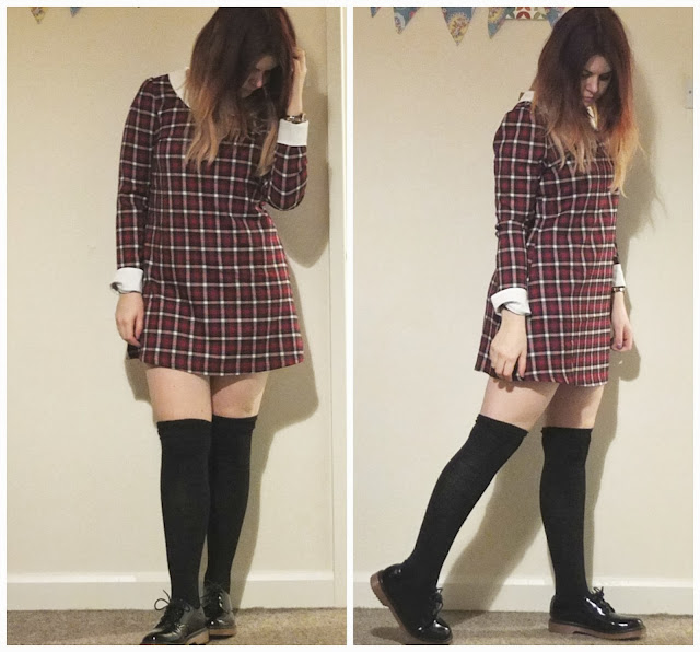 Tartan dress from Ark. UK fashion blog.