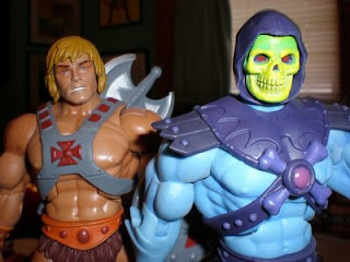 Skeletor and He-Man figures 80s