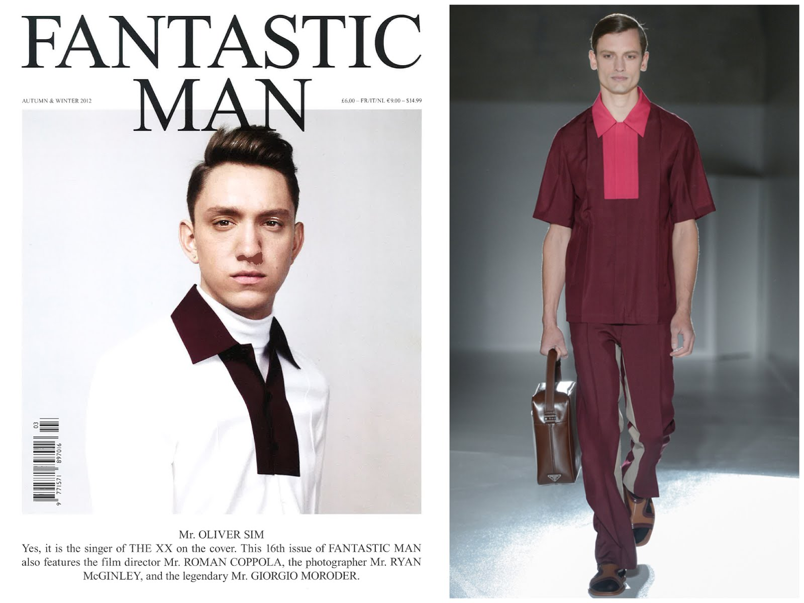 Oliver Sim in Prada - Fantastic Man Issue 16