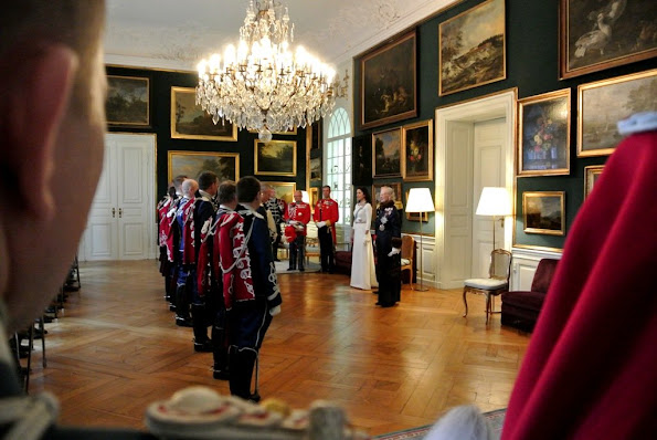 Danish Royal Family at annual new years reception for the ambassadors at Christiansborg palace.