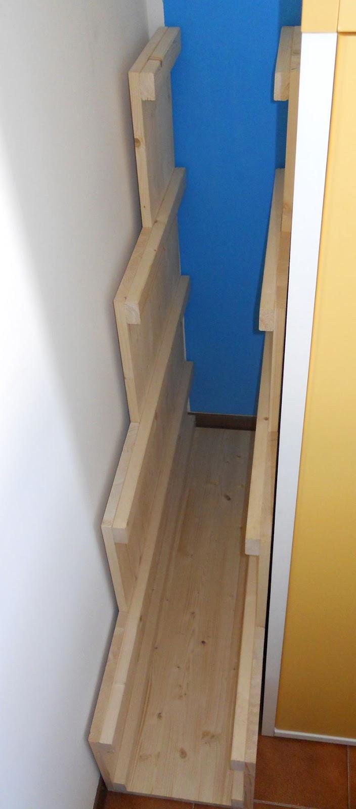 Stedeg blog costruire una scala a gradini per letto a for Rivestire una scala in legno