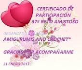 CERTIFICADO DE RETO AMISTOSO No.37