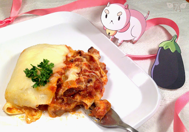 Bee and Puppycat lasagna