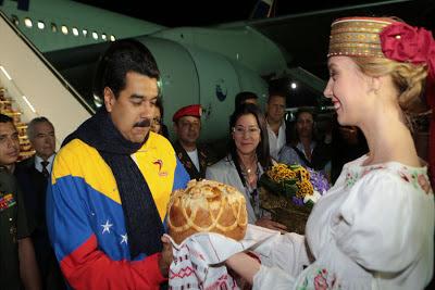 Nicolás Maduro arriba a Bielorrusia