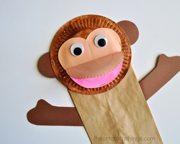 Paper Bag Monkey Craft for Kids : paper plate monkey craft - pezcame.com