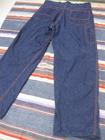 early 50's            DENIM PAINTER PANTS             VERY DARK COLOR             MINT CONDITION