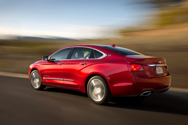 Rear 3/4 view of 2014 Chevrolet Impala