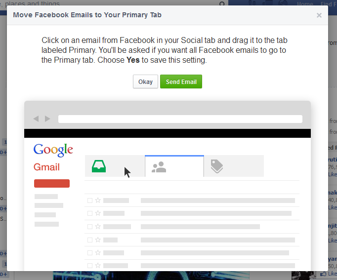 how to delete all emails from facebook on gmail