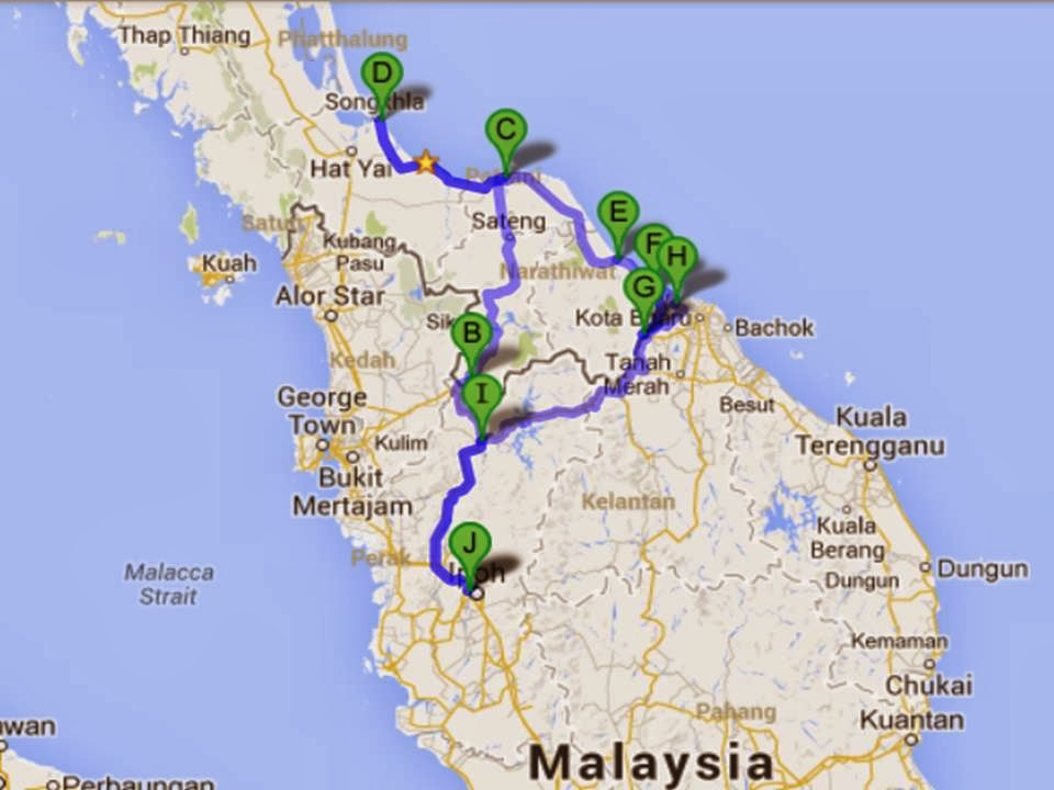 MY OVERLAND JOURNEY: SOUTH EAST THAILAND RIDE: IPOH - BETONG - YALA ...