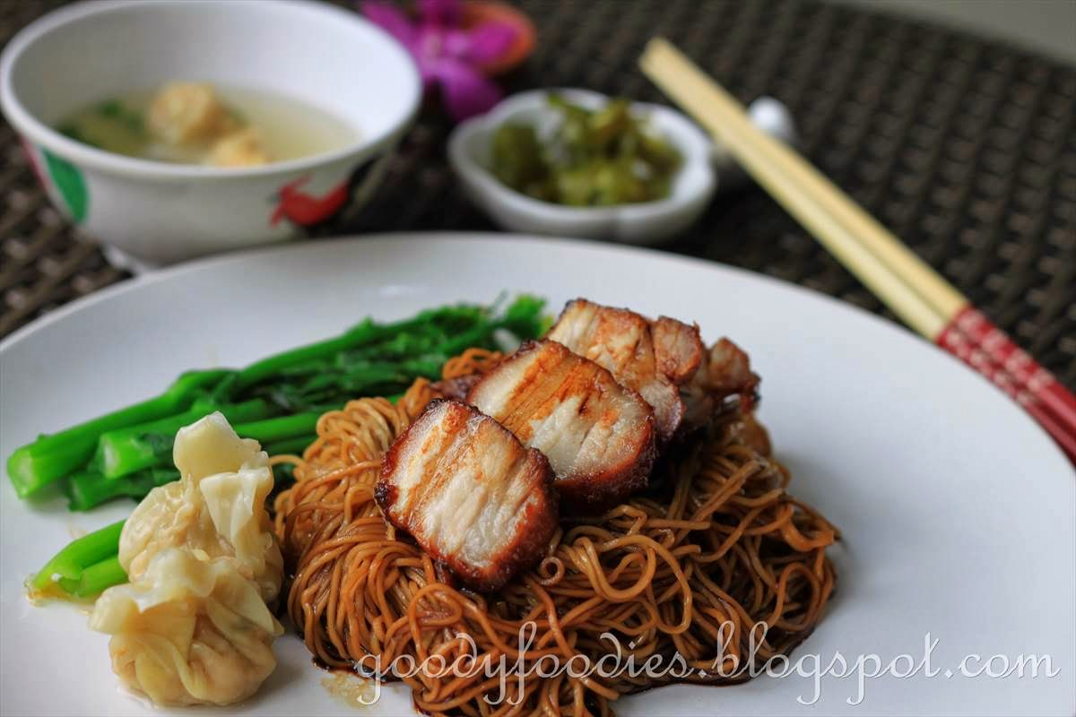 char siew and serve with a small bowl of homemade wantans 3 4 wantans ...