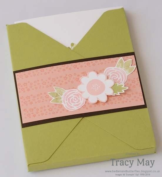 stampin up independent demonstrator Tracy May garden party envelope punch board thank you card making ideas