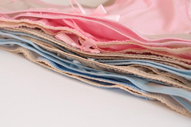 handmade lingerie - pile of summer knickers by Bonboneva lingerie