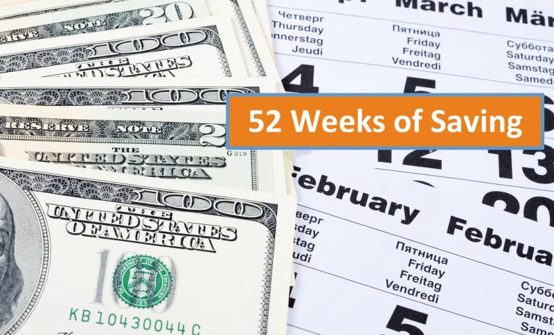 52 weeks of saving challenge