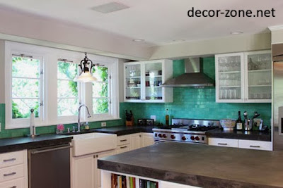 turquoise kitchen backsplash tile ideas