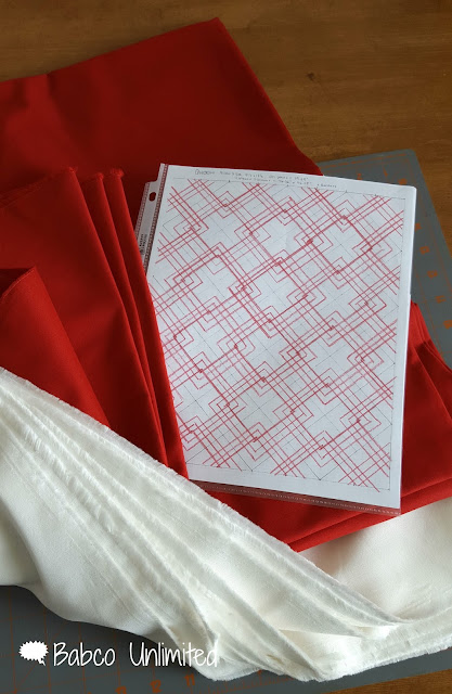 BabcoUnlimited.blogspot.com -- Red & White Quilt Pattern