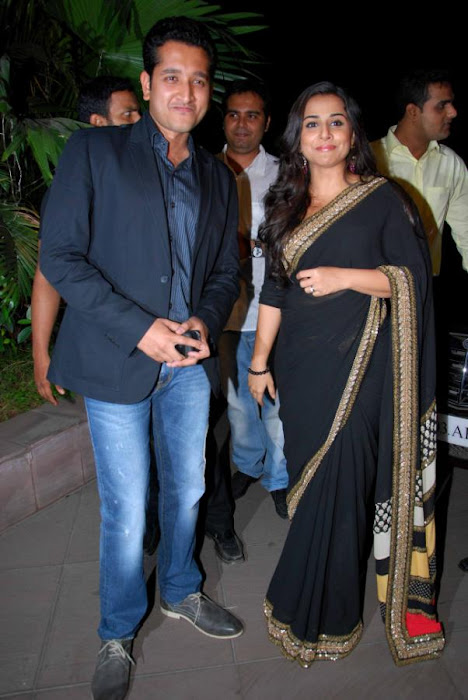 Vidya Balan in Black Saree Photos at kahaani movie success party photo gallery