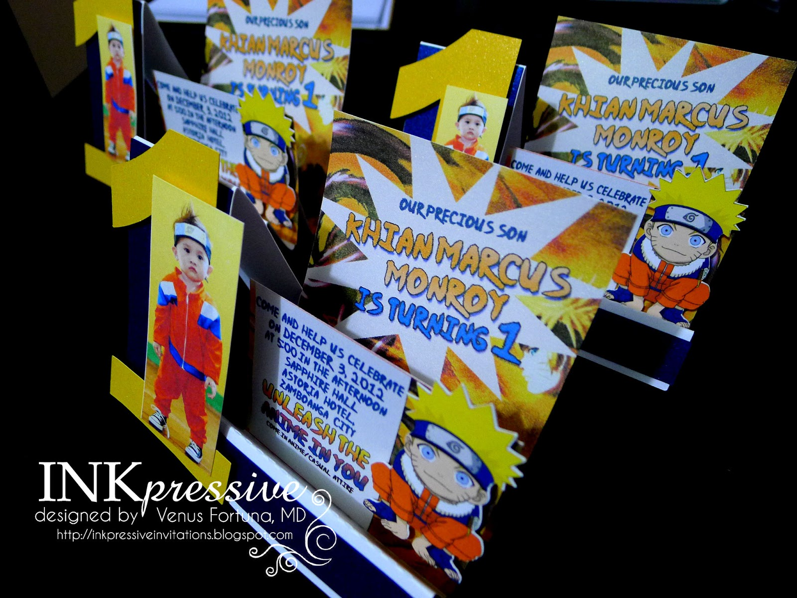 Naruto Inkpressive Invitations