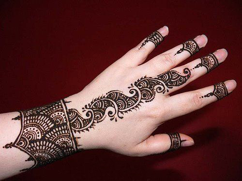 These mehndi designs are very simple and easy that every girl can easily ...
