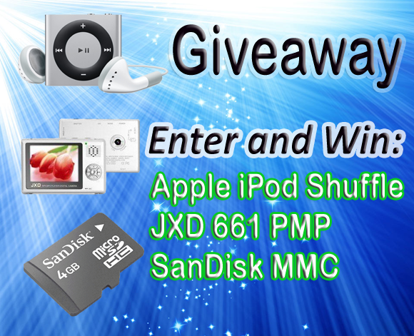 Win Apple iPod Shuffle and JXD 661 Portable Media Player
