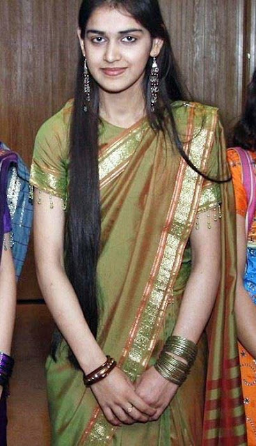Bridal hair styles by Malayalam long hair girls