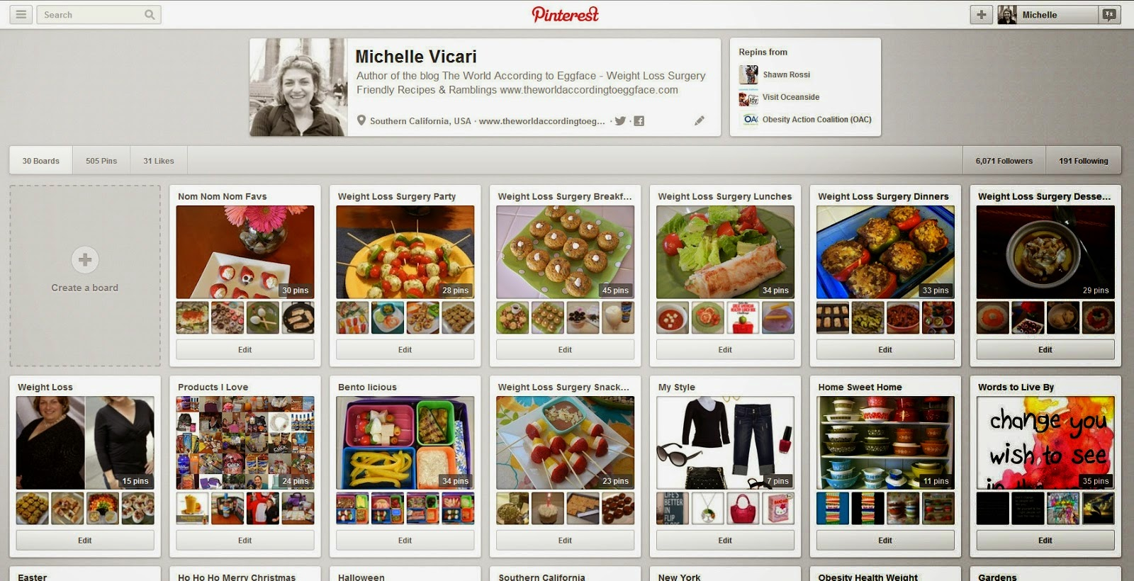 Michelle+Vicari+(eggface)+on+Pinterest+ +Mozilla+Firefox+832013+112653+PM Weight Loss Recipes Eggface Healthy Salads and Cold Eats Pinterest Page