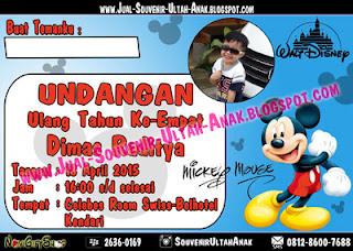 Undangan Mickey Dimas Kartu Undangan Ulang Tahun Anak (Invitation Card)