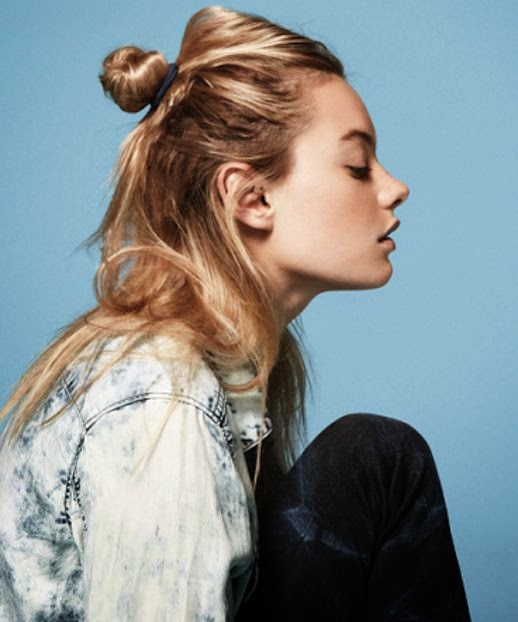 How to wear a half up top knot